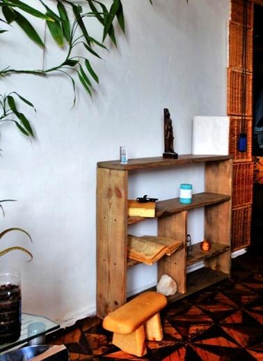 Eskitme Çam Kitaplık-Oldwooddesign